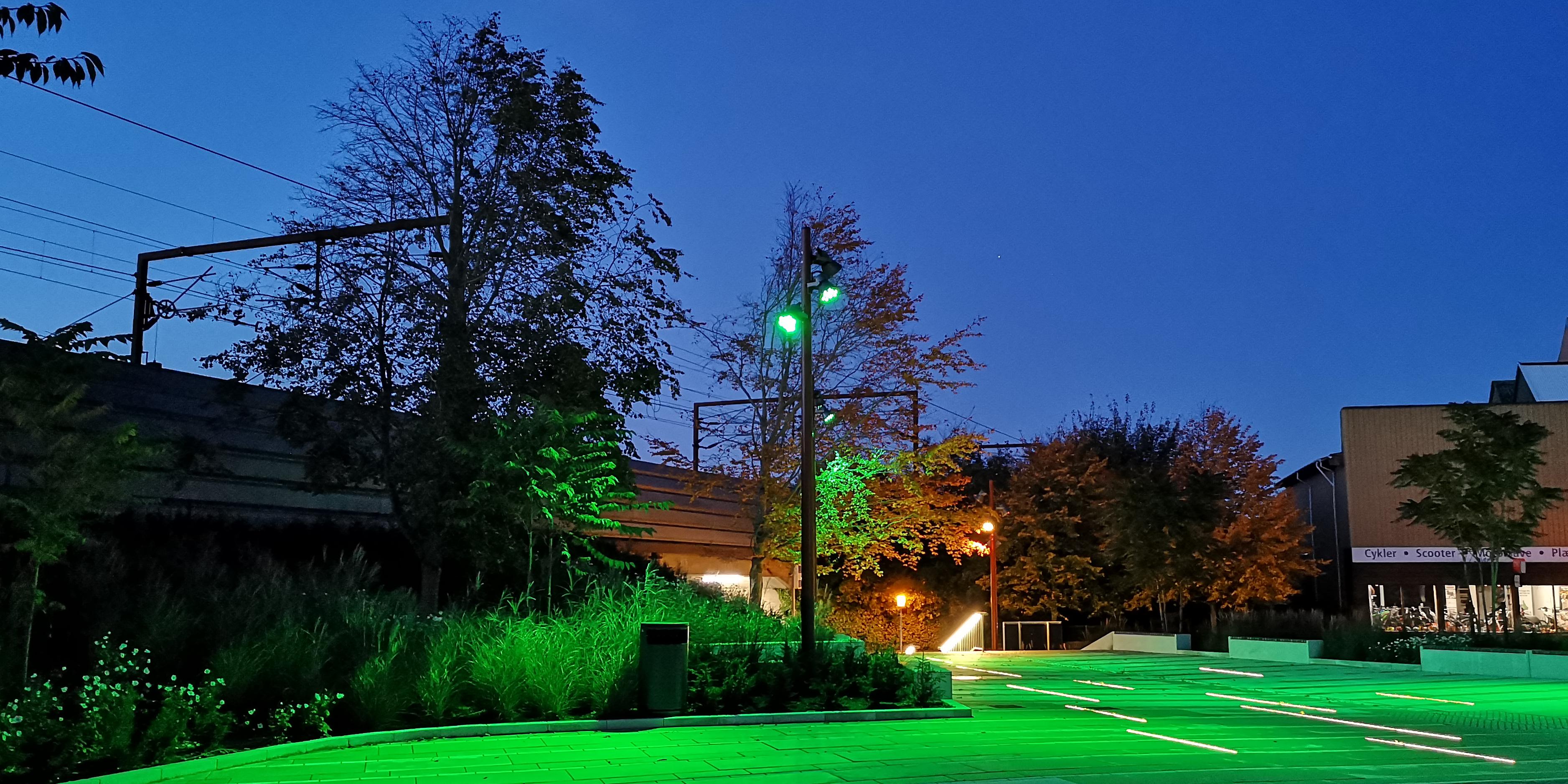 Kinotorv grønt lys aften MOOS LANDSKABER