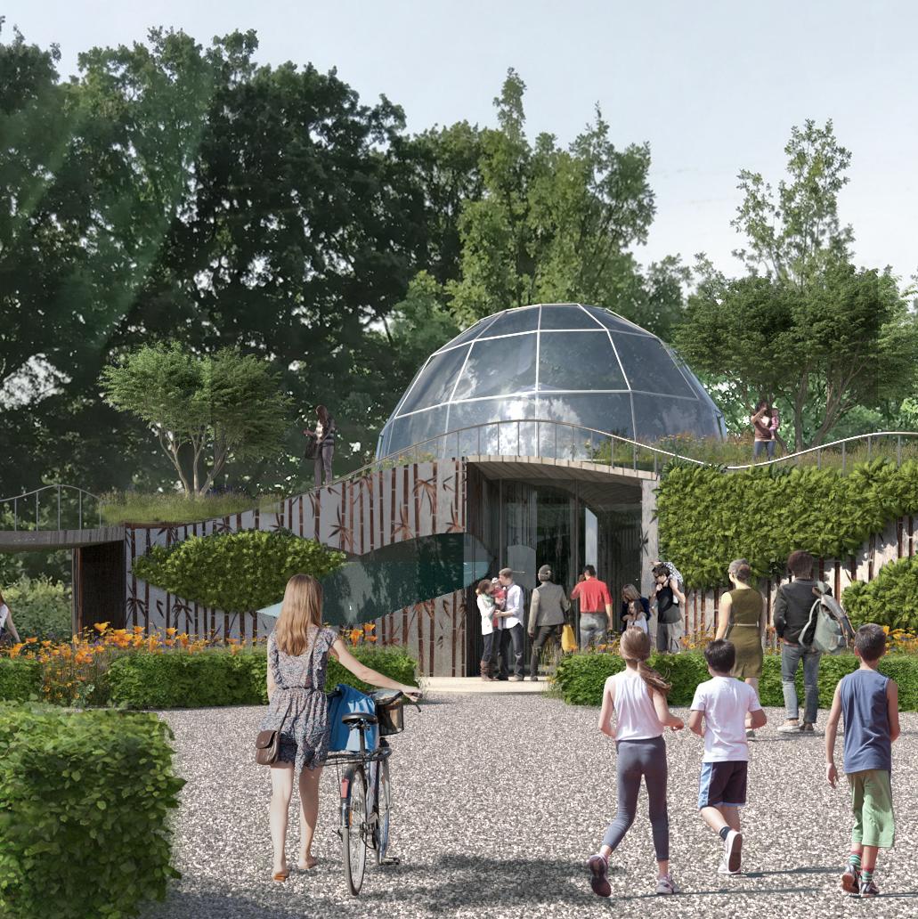 Geografisk Have og Aksel Olsens hjem