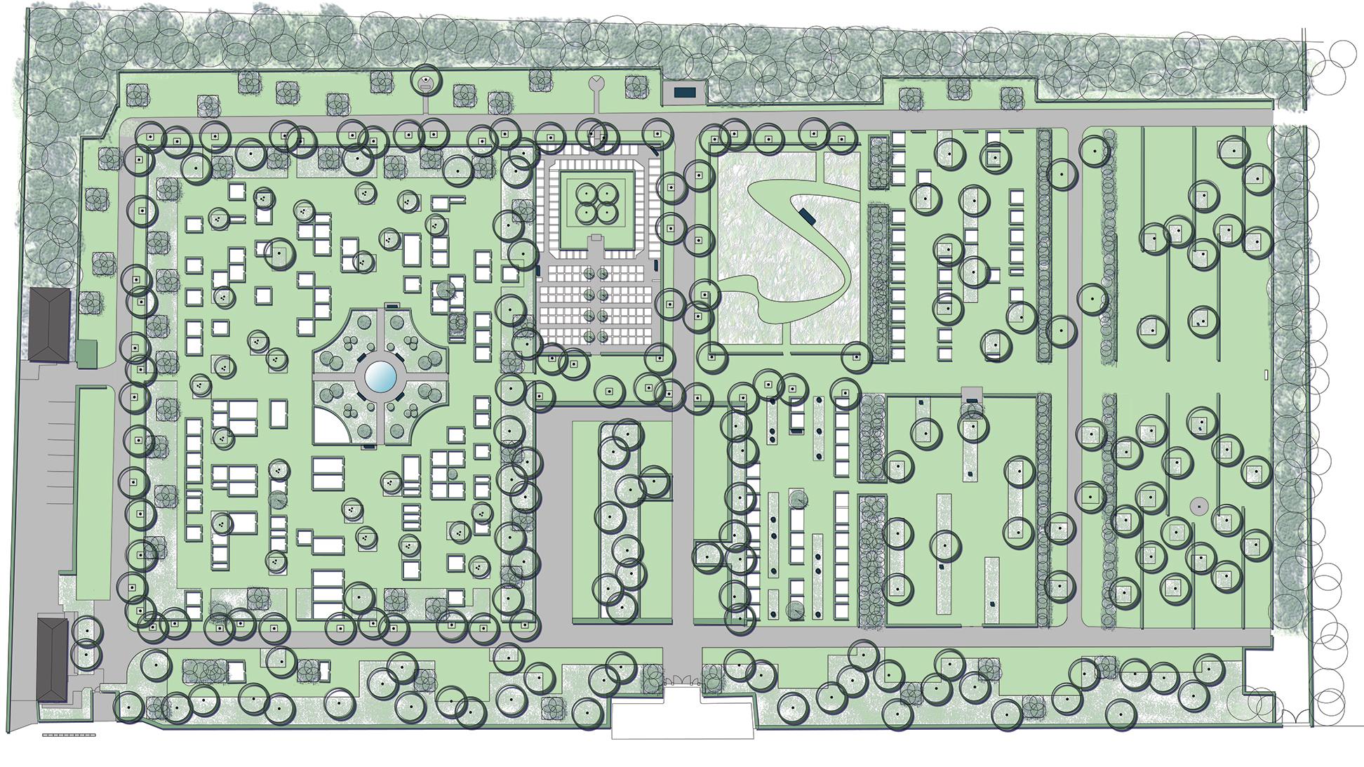 Ribe Ny kirkegård Forslag_2014 MOOS LANDSKABER